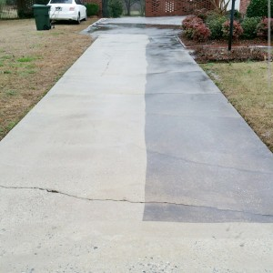 Residential pressure washing in macon ga for Best solution to clean concrete driveway